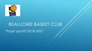 Projet Sportif BBC 2018-2021 AG-1